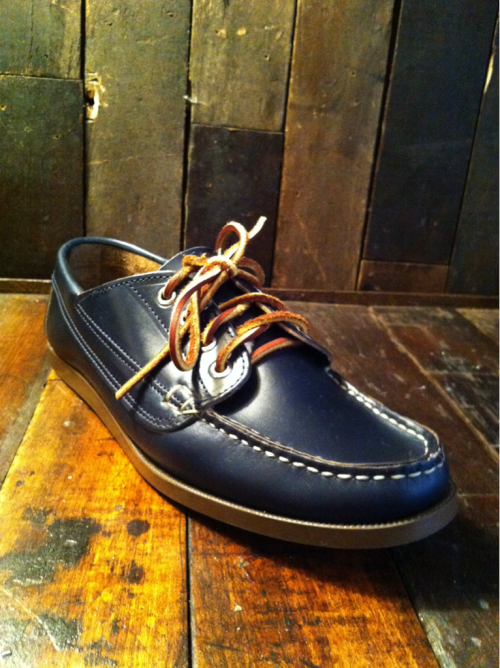 Feeling Blue  Oak Street Horween Leather Camp Shoe. In the truest and richest of Navy Blues. Available immediately at PTC.