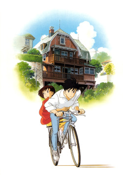 Japanese film poster for Whisper of the Heart