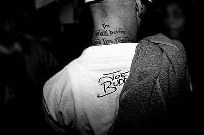 "Joe Budden - Neck Tattoo ""I'm doing better than I'm feeling."""