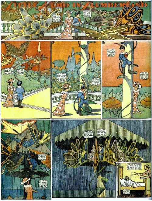 queerlyhypersensitive:  Little Nemo in Slumberland by Winsor McCay
