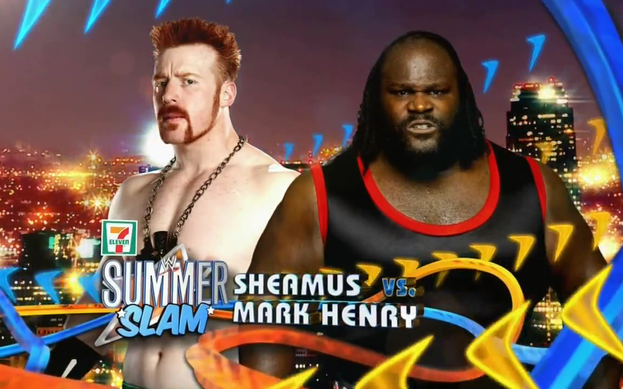 Sheamus vs. Mark Henry at SummerSlam 2011 WWE SummerSlam 2011 - Celtic Warrior will take on The Worlds Strongest Man Mark Henry http://bit.ly/mYxRH4