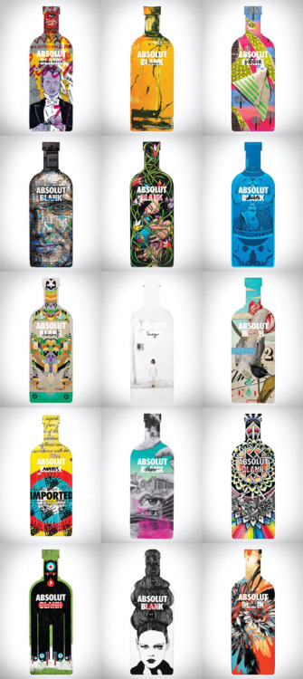 In collaboration with a new generation of artists, ABSOLUT VODKA is introducing ABSOLUT BLANK, a global creative movement, in which ABSOLUT appears as a catalyst for cutting-edge creativity. The initiative comprises 18 artist collaborations, films, print and outdoor ads, events and a digital art piece that lives and evolves in your mobile phone