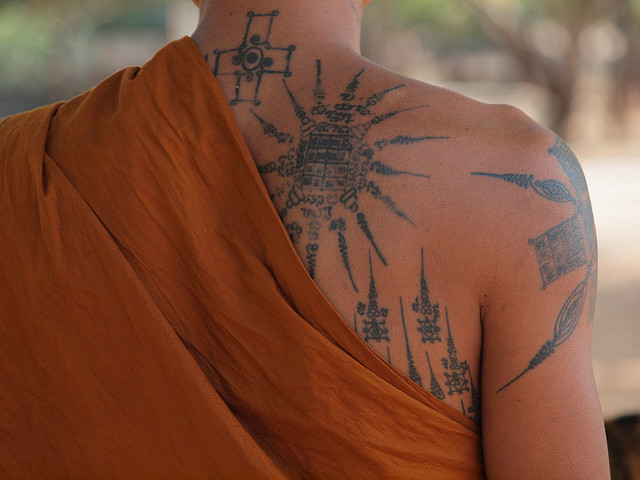 Monk's Tattoos by EssleyJane Tiger Temple @ Bangkok, Thailand