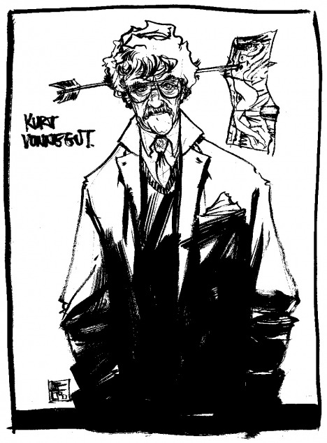 Kurt Vonnegut by Nathan Fox Source: heyoscarwilde.com