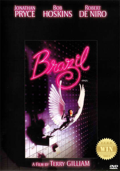 "Brazil (1985) A bureaucrat in a retro-future world tries to correct an administrative error and himself becomes an enemy of the state. The Plot Synopsis above doesn't capture this film. If you know Terry Gilliam, YOU KNOW it's gonna be a fun ride. Bizarre and whimsical from start to end, there's so much to look at. A sci-fi masterpiece! from a director who does fantasy comedies. After reviewing The Imaginarium of Doctor Parnassus (2009) i had the urge to watch another Gilliam… Jonathan Pryce was brilliant in his performance as the mild mannered desk jockey and the winged hero. He did well as the central character in this oh-so-crazy world. The sets and characters were truly one for the optic senses. And ""Woah!"" remember Robert De Niro is in this! And what about the demented ""interrogators""??? Twisted! There's just so much to talk about ""visually"" and the prosthetic work… genius. The song is still running in my head. ""Braaaaziiiiiiil!"" TRIVIA: The samurai sequence was originally conceived to reflect Terry Gilliam's love for Akira Kurosawa films. A glimpse into the future, when the shit has hit the fan in this utopian disaster. Filled with paperwork and rules governed by greed and superficiality. It may be hard to digest at first, but make no mistake - this is a classic. And a great one at that."