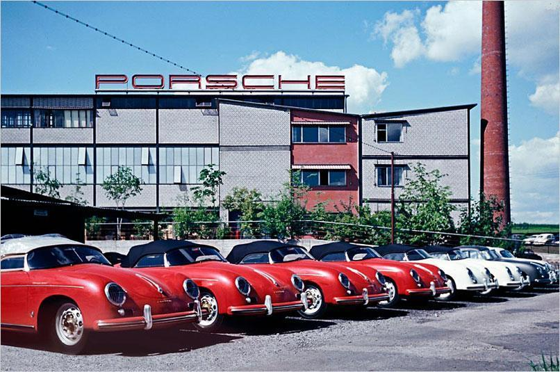 hellformotors:  Porsche 356 at Zuffenhausen