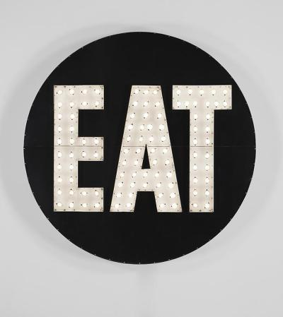 """the electric eat"" by robert indiana (via language to be looked at and/or things to be read)"