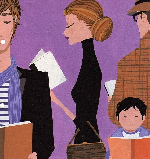 bibliolectors:  Reading is fashionable / Leer esta de moda (ilustración de Jordi Labanda)