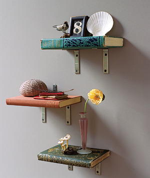 craftjunkie:  Book Bookshelf {How to} Found at: http://www.realsimple.com