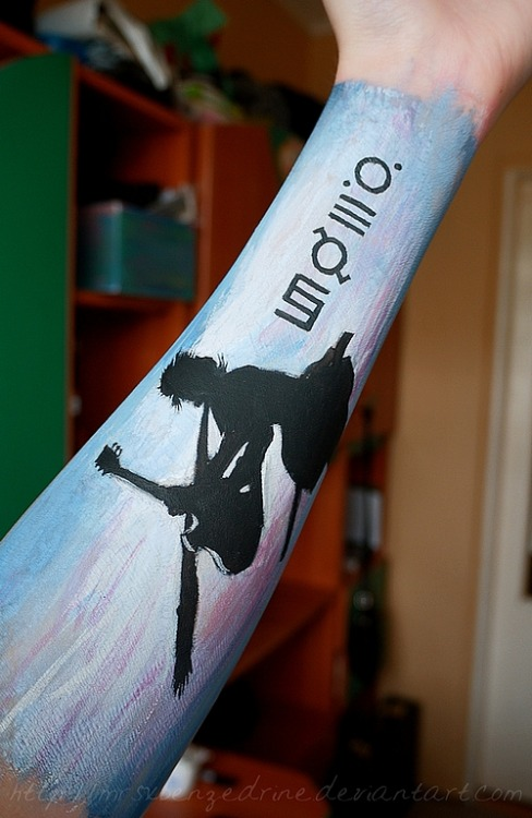 aggsart:  A Beautiful Lie arm painting. Made it for a contest but I'm uploading it here too.