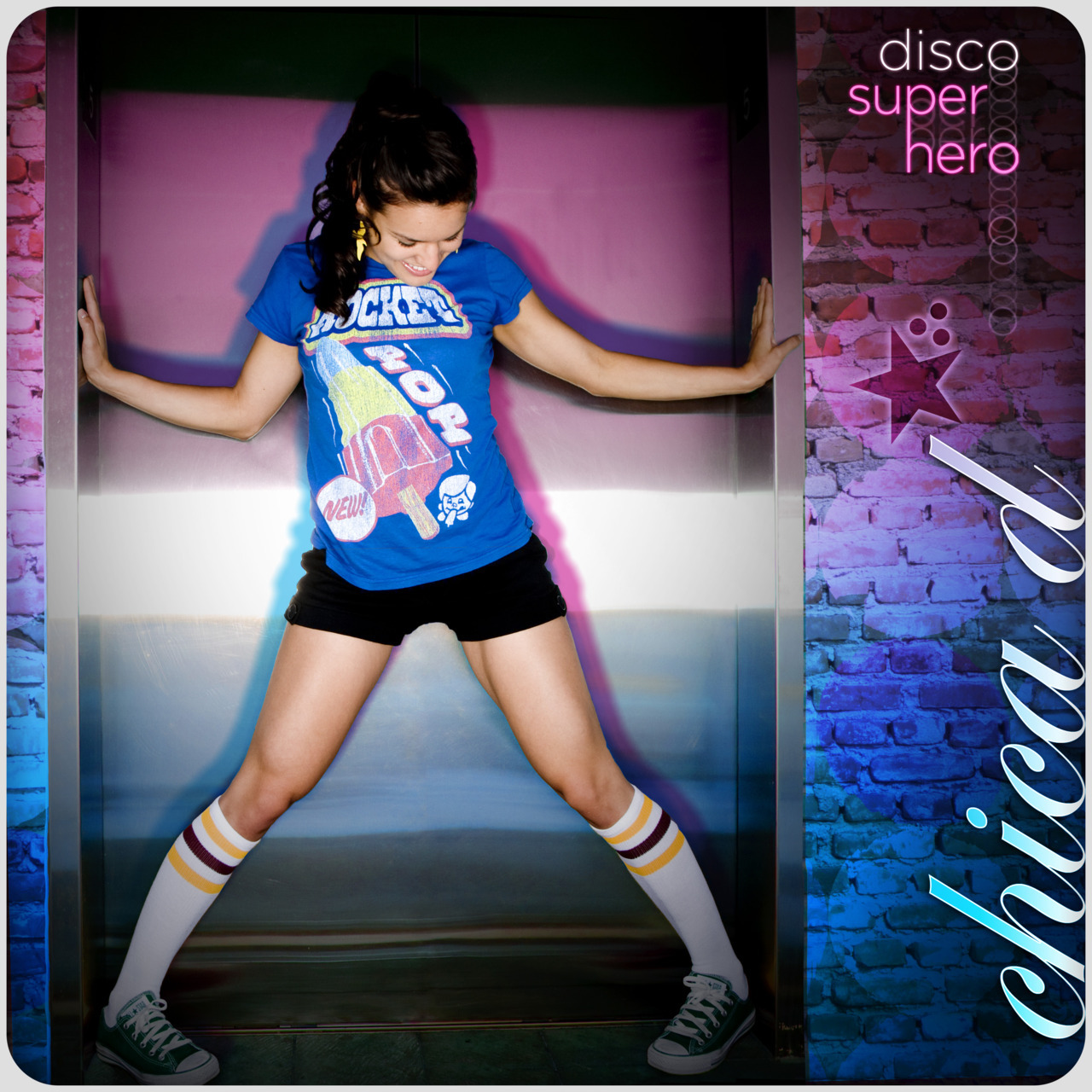 """Disco Superhero"" Cover!! Look it up on iTunes!! :) photo: michaelbeckphotography.com design: pete malachowsky"