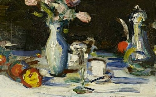 Samuel John Peploe Still Life on a Dark Background 1905