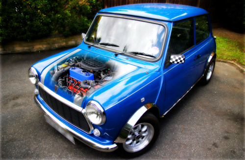 Engine shot, Rover Mini.  Keeping it at 1275cc since 1995.