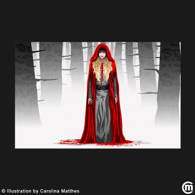 carolinamatthes:  Bad Red Riding Hood…. Vectorillustration © Copyright  by Carolina Matthes