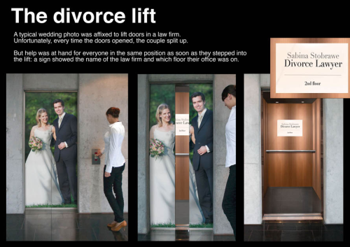 Elevator Advertising for a Divorce Lawyer - Divorce Lift