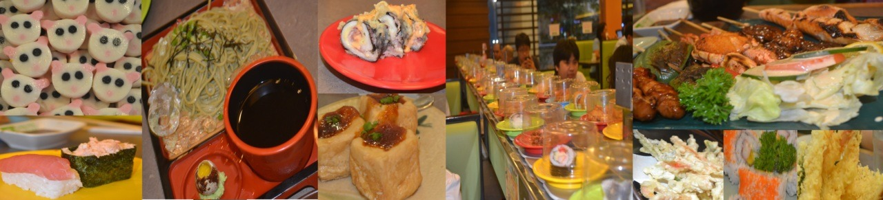 delicious treats from #sakae-sushi.i had fun eating the food and even fun on the moving japanese foods around :D try this guys