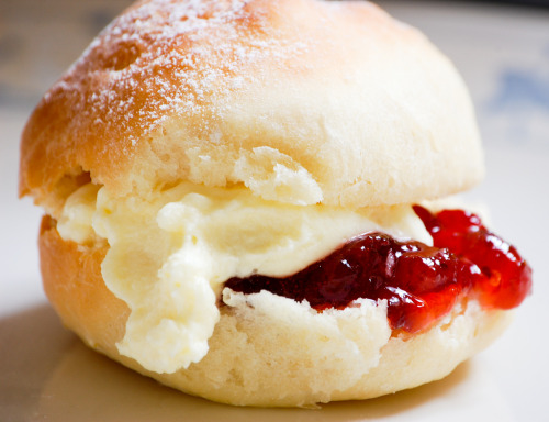 mashimaro:  Scone with Jam and Cream (via Pooja Shashikanth)