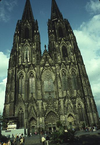 The Cologne Cathedral is a magnificent Roman Catholic structure. The construction was an incredibly drawn-out process, starting in 1248, but it was only in 1880 that every aspect of the cathedral was complete, after a resurgence in medieval nostalgia. For the first four years after its completion, it was the world's tallest structure.