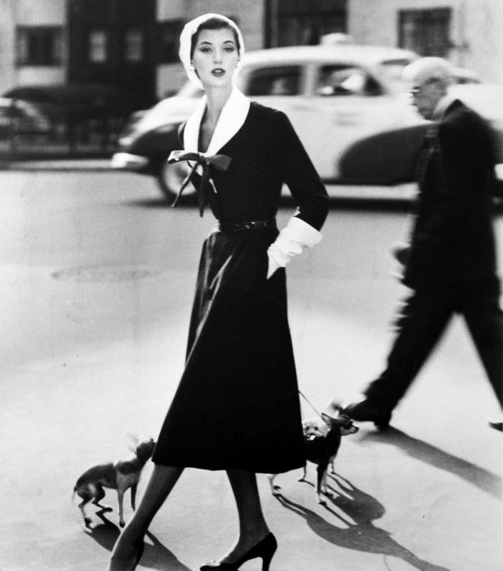 Barbara Mullen with Dogs (1955). Norman Parkinson. (Source)