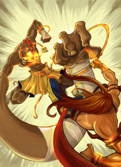 onceyougoblack:  Street Fighter Dhalsim Vs Vega by ~Arzuza