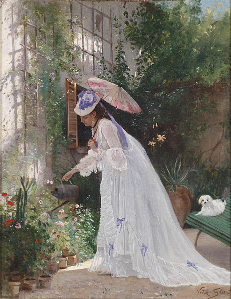 Loving Flower Care by Victor Gilbert, date missing (ca 1867?) France Click for a giant version