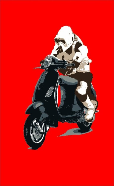 koldunkisloty:  Vespa Trooper // By: Mark Crossey