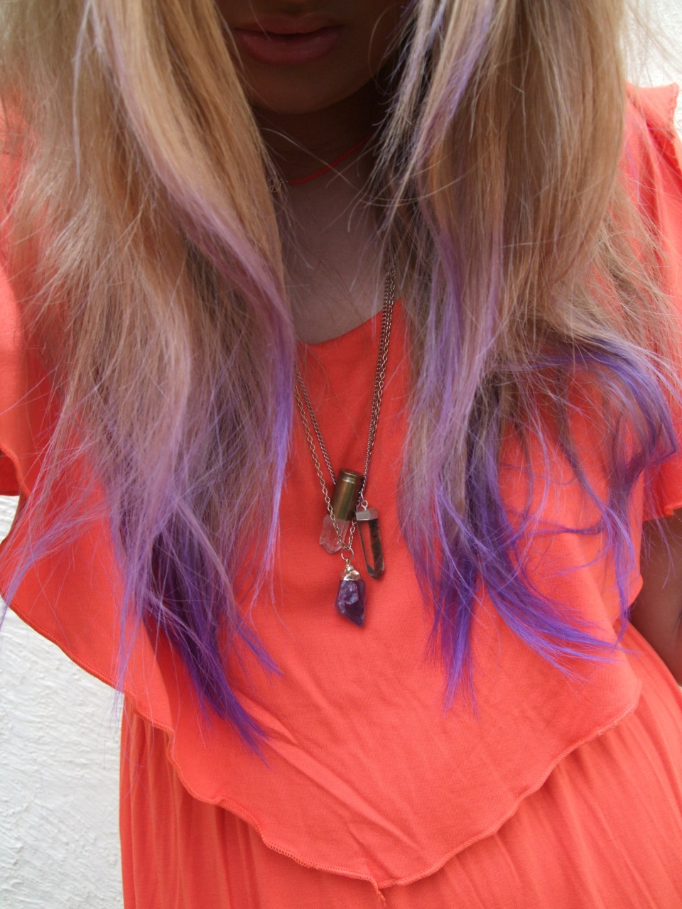 threedeadkings:  My new purple (it is more lavender in person) ombre hair, I got bored last night and found an old pot of dye and this is the result!