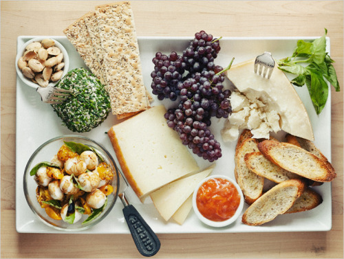 a summer cheese plate.