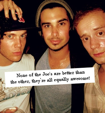 I disagree. I think Joey is slightly better than the other two Joes, though they're still awesome.