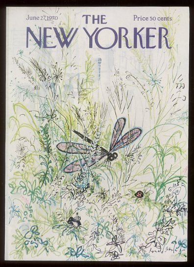drawnblog:  Ronald Searle New Yorker covers, anyone?