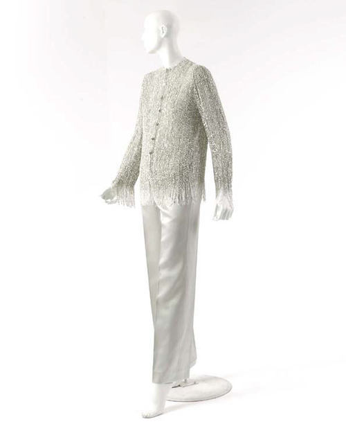 Karl Lagerfeld for Chanel lounging pajamas ca. 1999 via The Costume Institute of the Metropolitan Museum of Art