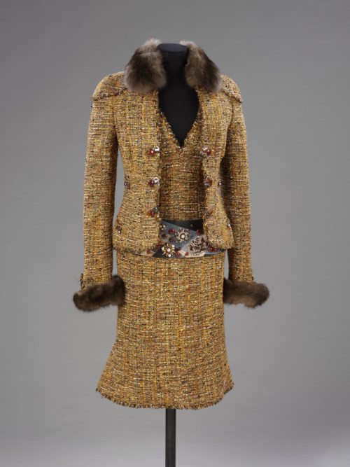 Karl Lagerfeld for Chanel suit ca. 2003 via The Victoria & Albert Museum