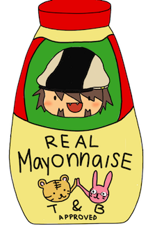 barnaboob:  aquastackers:  Special mayonnaise design. Only available during christmas time.  PREORDER IT NOW!  This is so cute (T&B approved) sdfgldfkjdf
