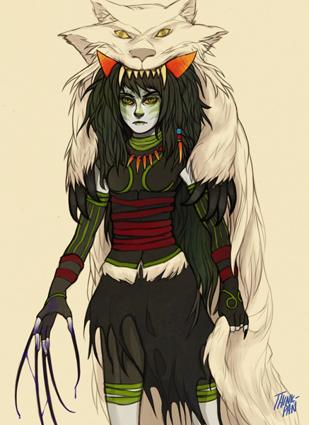 think-pan:  The Disciple became a sort of 'Princess Mononoke' figure when she went to live in seclusion. She set out to smite anyone who trash talked the Sufferer's ideals, and she vowed to assassinate the Grand Highblood, who (could have) played a large role in the execution of the Sufferer. YAY for movie inspired headcanons O: