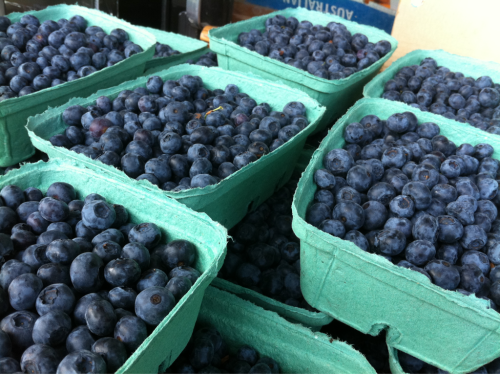 Fresh, local BC blueberries were about $3 for a pound and a half, & delicious!