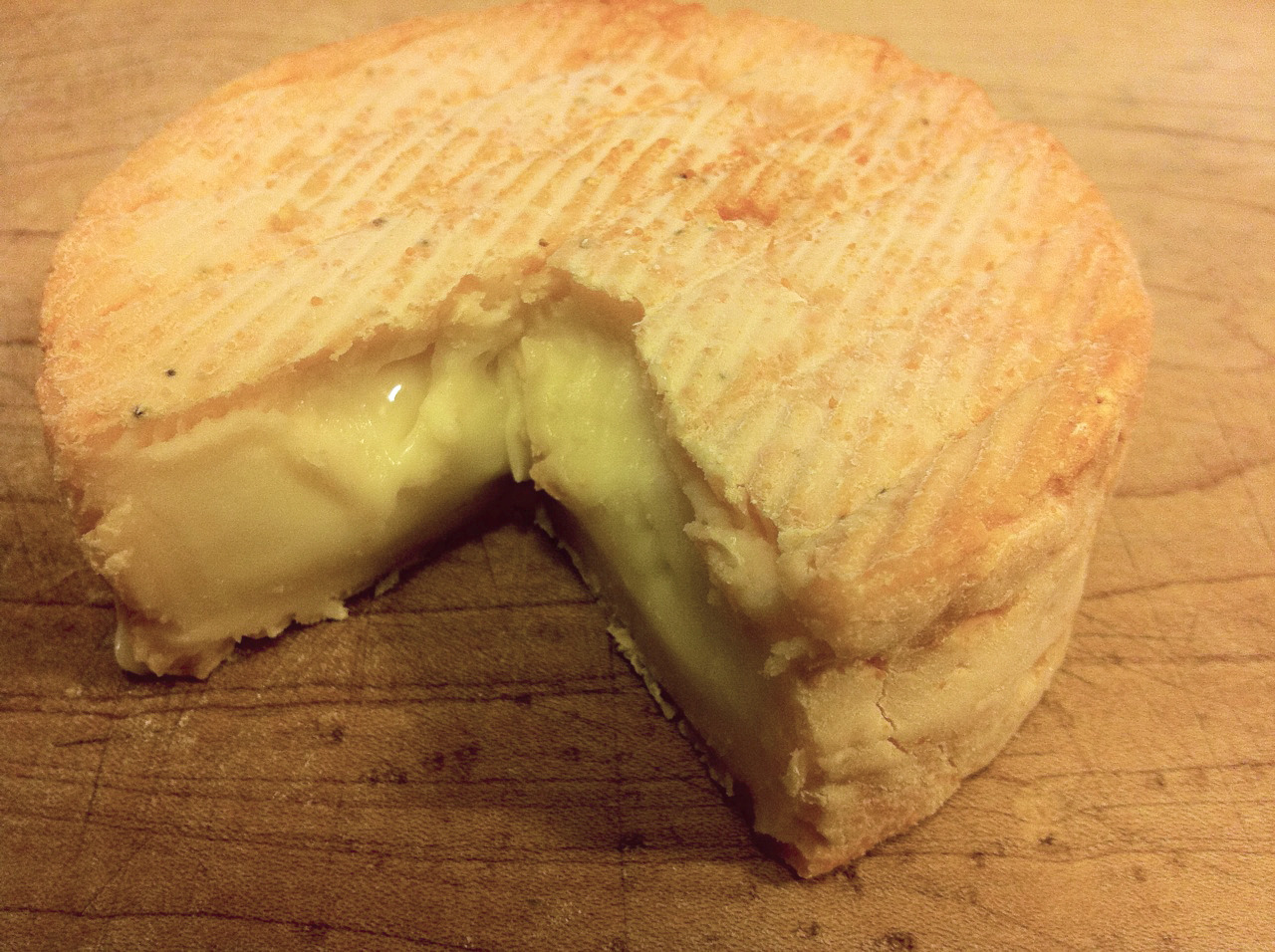 Petit Frere, from Crave Brothers, a washed rind, soft-ripened cheese. Purchased at Stinkys.