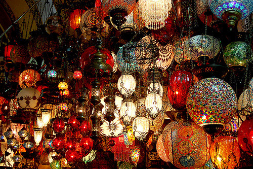 My Bohemian Aesthetic  Lanterns in the Grand Bazaar, Istanbul, Turkey