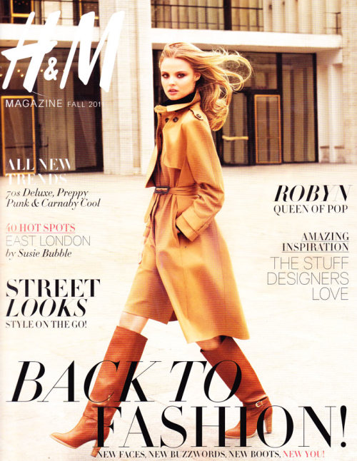 meredya:  fashiongonerogue:  (via H&M Magazine Fall 2011 Cover | Magdalena Frackowiak by Terry Richardson)  This makes me so excited for fall fashion.