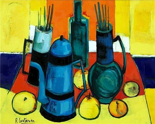 Rene Couturier Still Life with Blue Coffee Pot 1978
