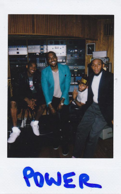 Kanye West, Kobe Swiss and Mos vibing in the studio