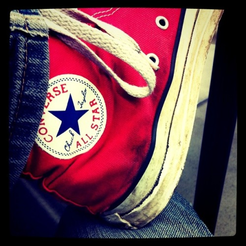 Chuck Tag! You're it!  Post a pic of your favorite pair of Chucks and tell us something epic you have done in them! -These Chucks took me through the Epicenter Concert in California where I saw bands that were either coming back together or leaving: Big Boi, A day to Remember, Bush, Rise Against, 30 Seconds to Mars, Eminem, Blink 182 and Kiss. Most intense but best concert I have ever been to!