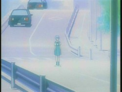The episode in which Ritsuko tells Rei to go play in traffic.