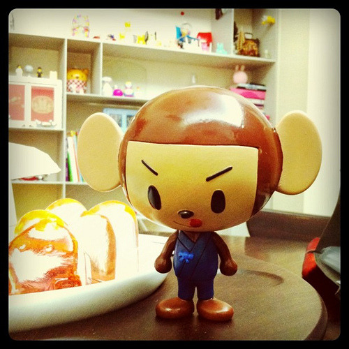 Cute monkey vinyl toy. Saburo (by doc18)