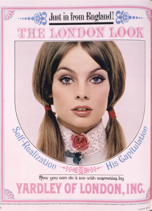 moddeningexperience:  1960's Yardley Beauty Campaign featuring Jean Shrimpton