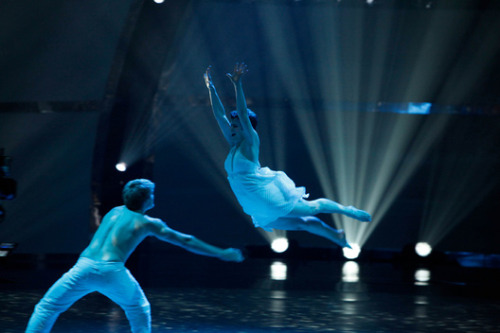 Wow! Look at Melanie soar through the air! ohyeahsytycd:  escapefromrealitee:  I do not own this picture. Property of FOX. On another note, this is beautifully stunning. I love how Melanie dances with such passion and fluidity. :)  Neil Haskell (S3) and Melanie Moore (S8).Top 8, contemporary, Mandy Moore.