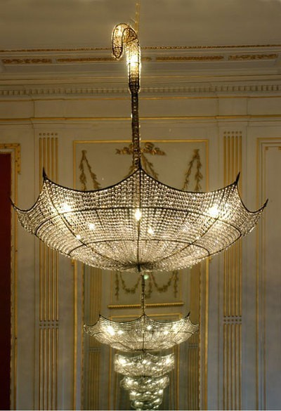 ysvoice:  | ♕ |  chandelier of umbrella  | by ZsaZsa Bellagio | via heartbeatoz