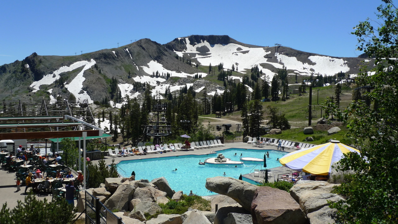 Swimming at 8,200 feet.