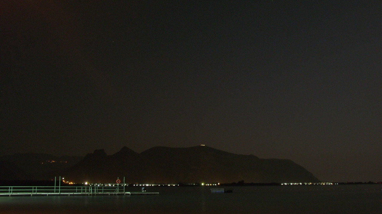 Oren Mountain by Night - from Bodrum City ,Turkey