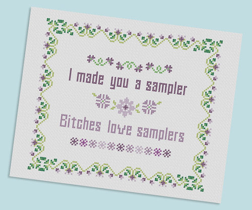 crafty-licious:  I Made You a Sampler PDF Pattern by velvetelvii on Etsy