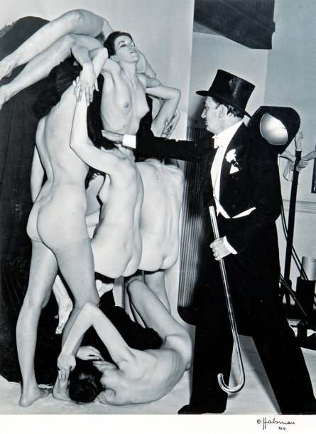 Monday Dali is back!   Salvador Dali arranging nude models to form a human skull, 1951 by Philippe Halsman [see also] via Ader
